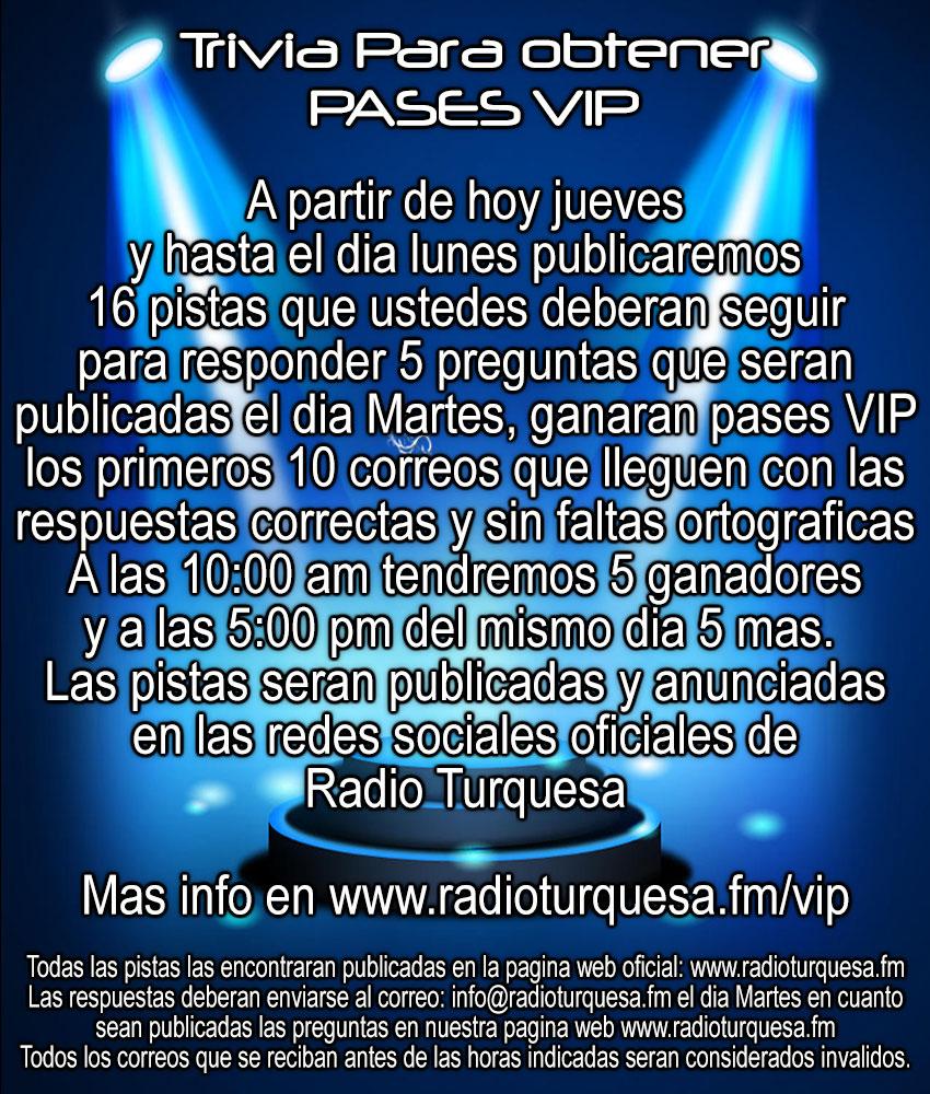 Pases VIP Magno Concierto Radio Turquesa