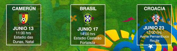 Grupo Mexico Brasil 2014