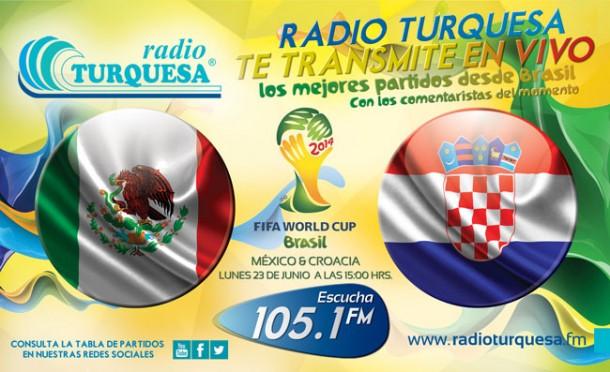 Mexico Croacia Partido en Linea - Radio Turquesa