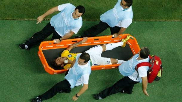 neymar lesionado brasil 2014
