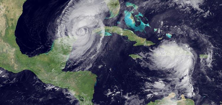 Huracanes en Cancun 2015