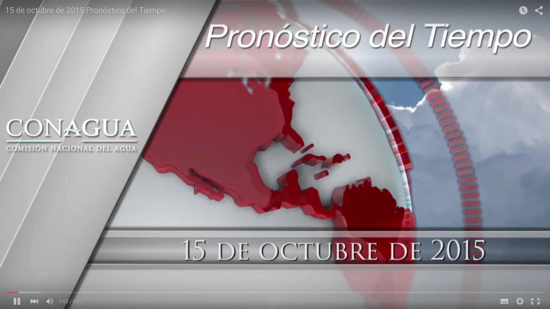 Pron stico del tiempo 15 de octubre 2015 radio turquesa for Pronostico del tiempo accuweather