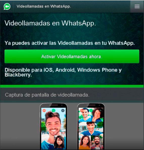 Activar videollamadas en whatsapp