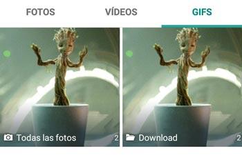 Animaciones GIF en Whatsapp
