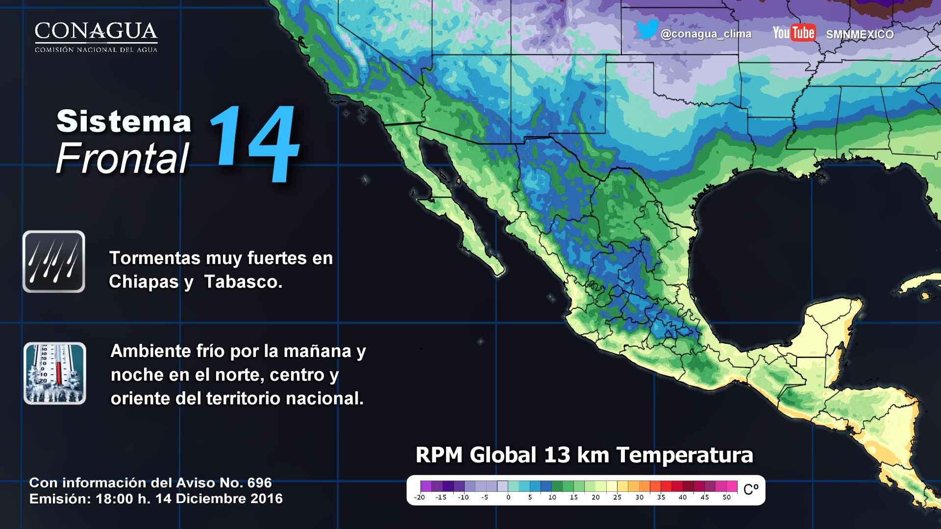 Pron stico del tiempo 14 de diciembre 2016 radio turquesa for Pronostico del tiempo accuweather
