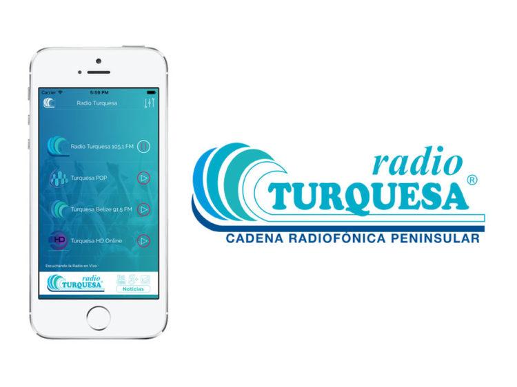 Aplicación iPhone Radio Turquesa