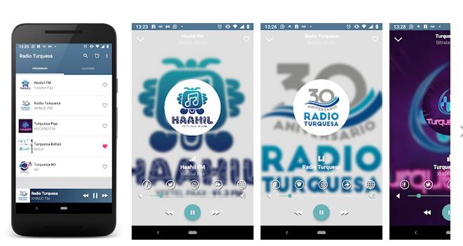 Aplicación Android Radio Turquesa